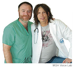 Dr Zeitels hanging out with Steven Tyler; who he also treated. What a star-bar of a doctor.