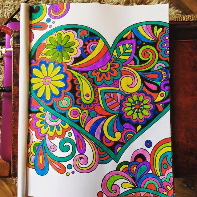 From the Completely Calming Colouring Book 2 - Love. Click on the pic to head to Amazon and buy it.